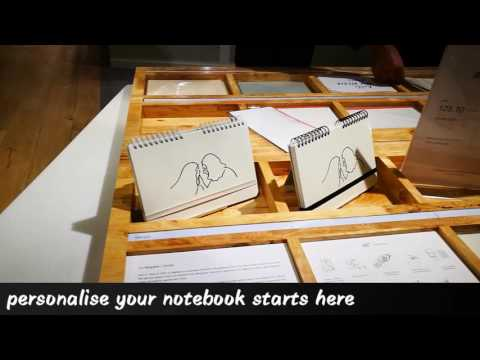How to make a personalise limited edition notebook of Yu Nagaba