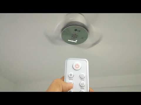 LG Ceiling Fan Operation Test With Remote Control