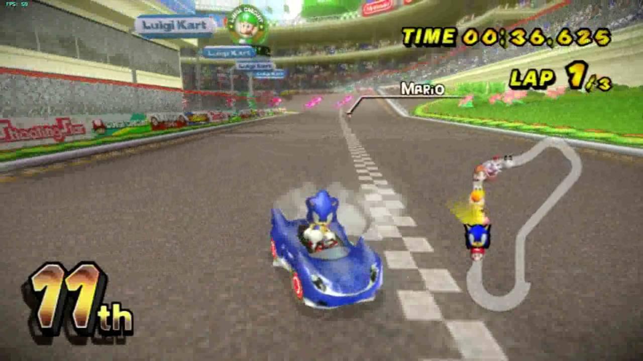 Sonic in mario kart wii bad quality youtube - Mario kart wii voiture ...