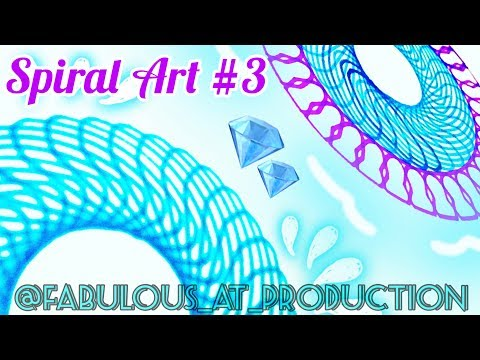 Spiral Art #3 | How To Make Zillions of Pattern | Tutorial | Satisfying thumbnail