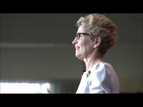 Kathleen Wynne Called a Liar While Giving Speech