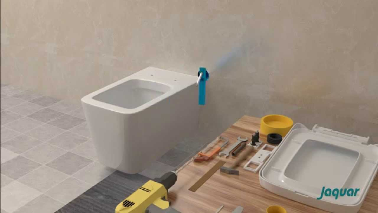 Jaquar Wall Hung Wc Installation Youtube