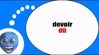 Французского видео урок = Причастие прошедшего № 1