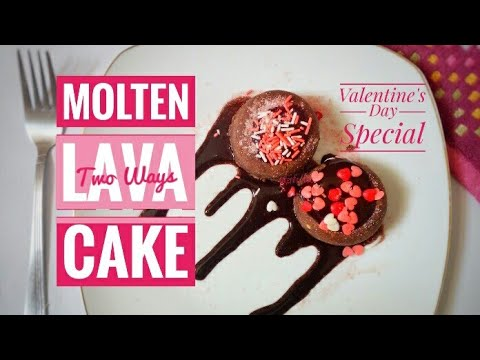 No Heat No Bake Molten Lava Cake, 2 ways, cooking without fire,how to make molten lava cake