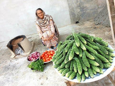 Bitter Gourd Masala Curry ❤ Healthy Village Food by Grandma | Veg Village Food | Village Life
