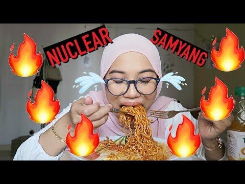 NUCLEAR FIRE Noodle CHALLENGE | Samyang 2x Spicy Chicken Ramen PART 1
