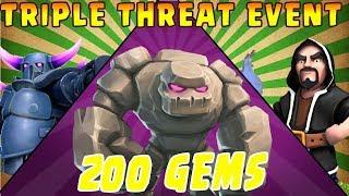 FREE 200 GEMS - Go Wi Pe Farming - Triple Threat Event - Free Dark Elixir - Clash of Clans