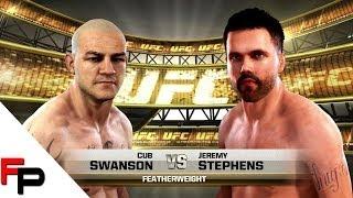 EA Sports UFC - Fight Night 44 Sim - Cub Swanson vs. Jeremy Stephens (CAF) 88 OVR