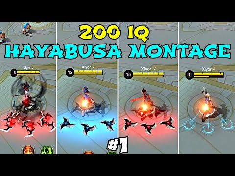 200 IQ Outplays Montage - Hayabusa Best Moments Highlight #1 | Mobile Legends