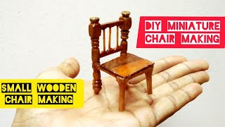 How to make Wooden Mini chair/Using waste wooden material/ At home