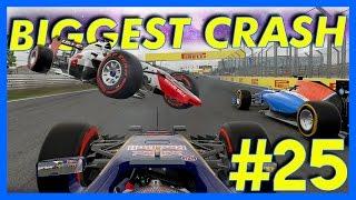 F1 2016 Career Mode : HUGE CRASH!! (Part 25)