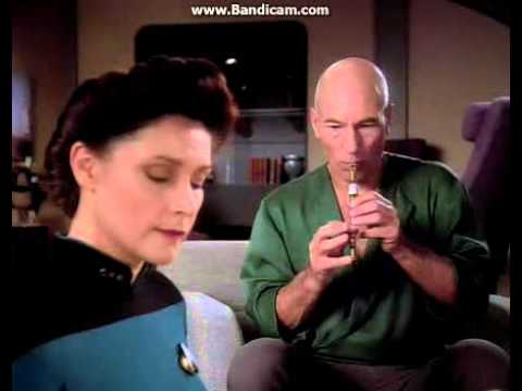 On Star Trek: TNG, those aren't Captain Picard's hands holding his flute