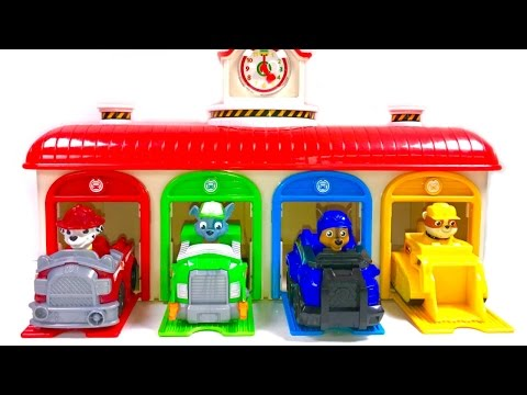 Thumbnail: Best Learning Colors Video for Children - Paw Patrol Tayo Little Bus Garage Toys