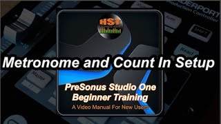 Metronome and Count In Setup - PreSonus Studio One Beginner Training
