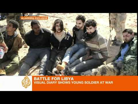 Visual diary shows Libyan soldier at war