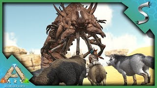 STARTING THE DIREWOLF PACK AND FIGHTING A DEATHWORM! - Ultimate Ark [E45 - Scorched Earth]