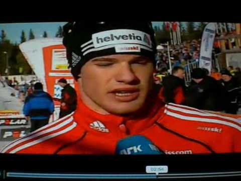Interview Petter Northug Jr. and Dario Cologna after 50km W-Cup