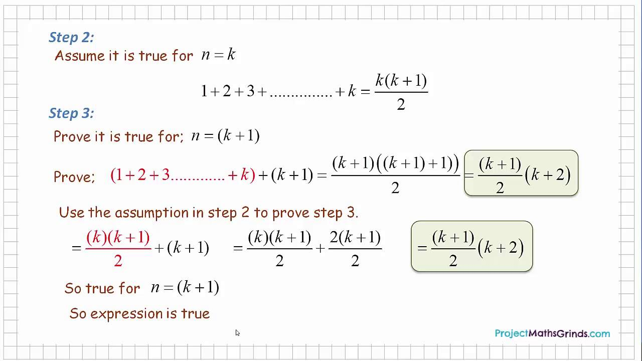 Proof By Induction - Project Maths Grinds - 2014 (H ) P1 - Q3 ...