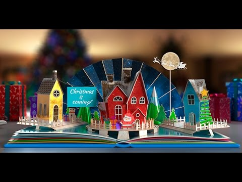 download free birthday pop up book after effects template のyoutube