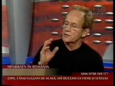 9.12.2002 - Lance Henriksen, in Romania si dialog despre carte
