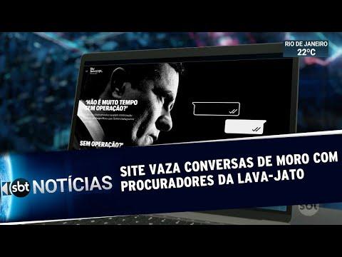 Site Revela Troca De Mensagens Entre Moro E Integrantes Da Lava Jato   SBT Notícias (10/06/19)