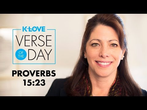 KLOVEs Verse of the Day: Proverbs 15:23