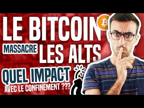 Le Bitcoin massacre les ALTCOINS (quel impact avec le confinement ?)