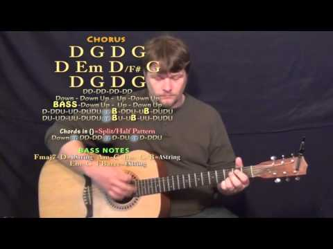 Days Go By (Keith Urban) Guitar Lesson Chord Chart - No Capo