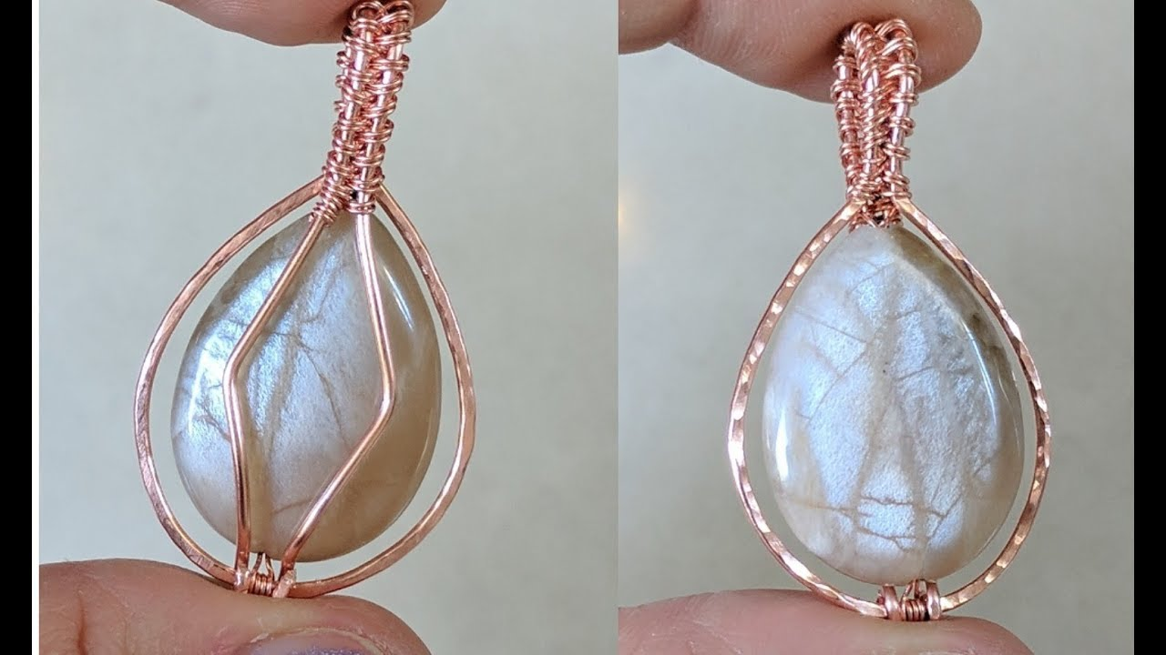 Basic Beginner Double Sided Bead Pendant Quick Easy Wire Wrap ...