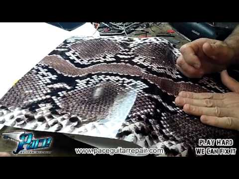 Custom Snake Skin Vinyl Wrap at Pace Guitar Repair
