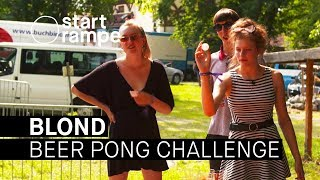 Blond im Beer Pong Duell (Startrampe)