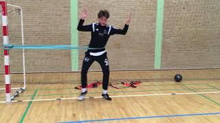 Styrketræning for målvogtere - Øvelse 9 (Afsæt i elastik)