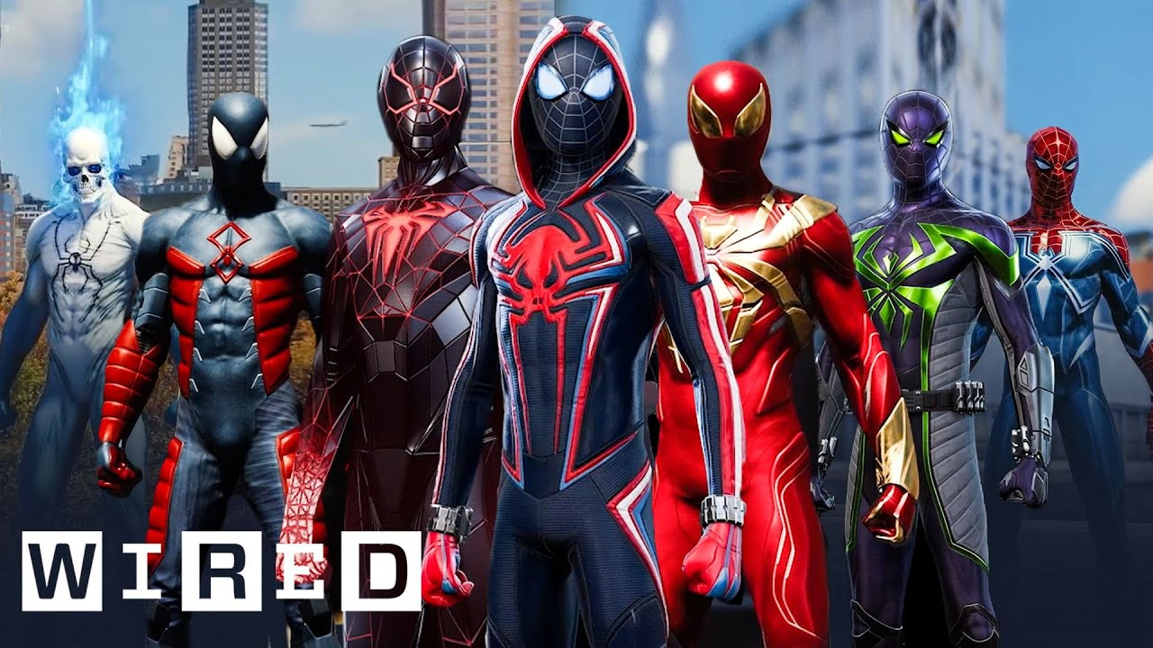 Every Spider-Man Suit From Marvel's Spider-Man: Miles Morales & Spider-Man Explained | WIRE