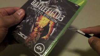 Silent Unboxing: Battlefield 3 (LIMITED EDITION) for Xbox 360 (ASMR)