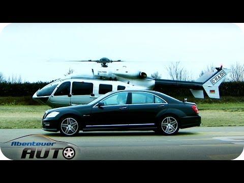 Hubschrauber vs. Auto   Eurocopter vs. Mercedes S63 AMG   Abenteuer Auto Classics