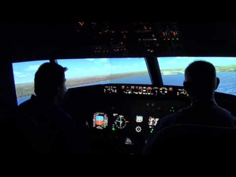 Cross Wind Approach and Landing at Sydney Airport
