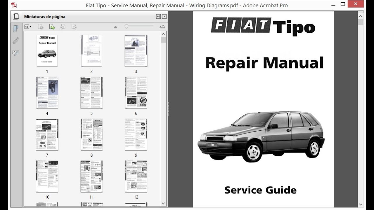 Fiat Tipo - Service Manual    Repair Manual - Wiring Diagrams