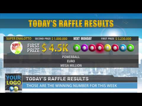 Daily lottery raffle results video by news factory