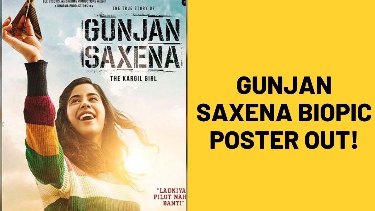Janhvi Kapoor Starrer Gunjan Saxena The Kargil Girl First Poster Out Spotboye Youtube
