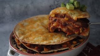 Mexican Tortilla Lasagna Recipe - Episode 523 Baking with Eda