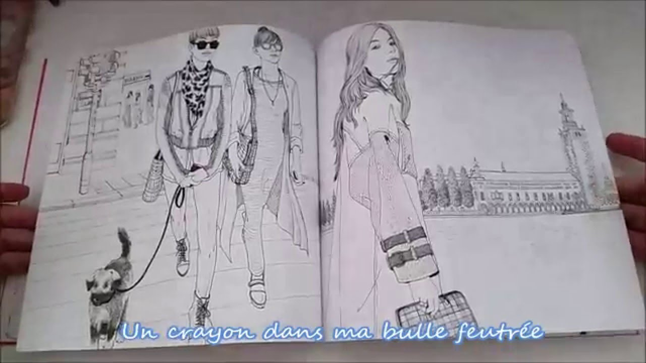 Presentation Du Livre The Look An Around World Fashion Coloring Book