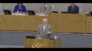 Жириновский смеётся на заседании Госдумы