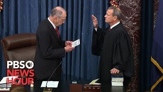 WATCH: Chief Justice John Roberts sworn in for Trump impeachment trial