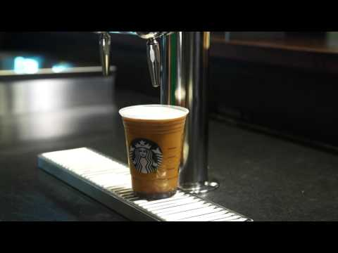 Starbucks Cold Coffee From A Beer Tap! (Video)