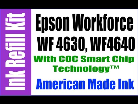 Ink Refill Kit For Epson  Workforce WF 4630 & WF 4640 With Refillable Cartridges