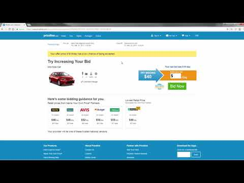 How To Rent A Car Using Priceline's Name Your Own Price Tool