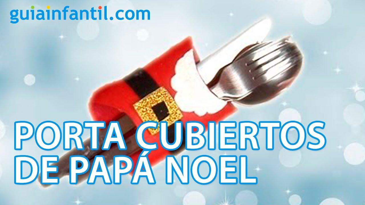 Porta cubiertos de pap noel para la cena de navidad youtube - Cenas para navidad 2015 ...