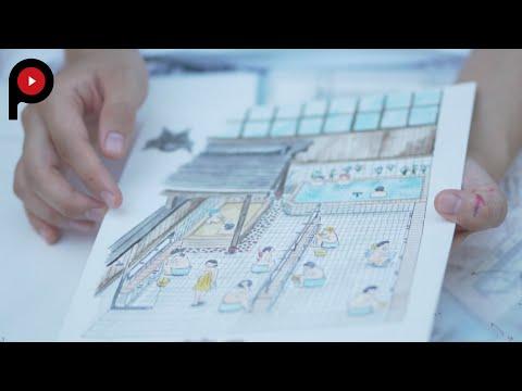 Sentogurashi 2 | Sento schematics | Illustrator Honami Enya