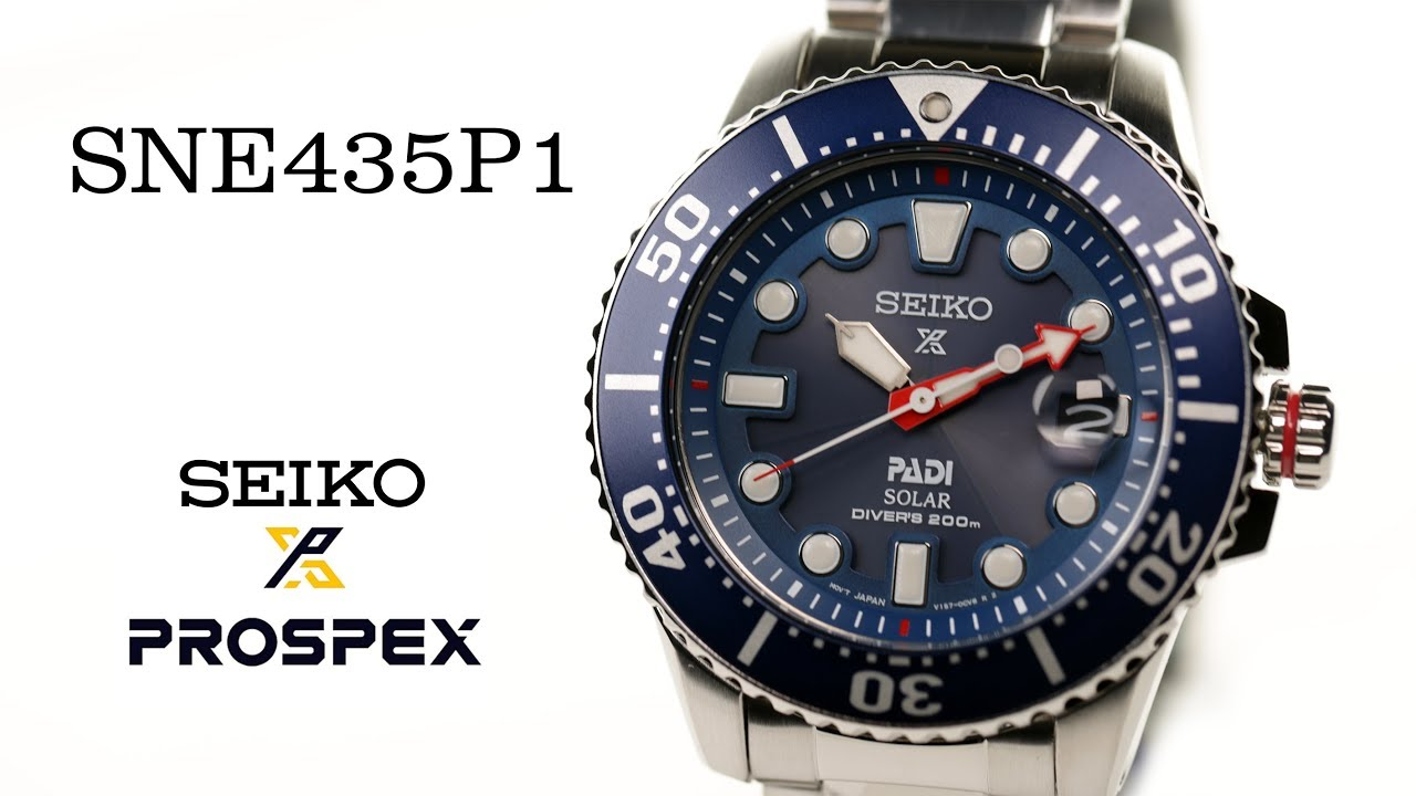 Jam Tangan Seiko Prospex PADI SNE435P1 Solar Divers 200M Blue Dial Special  Edition