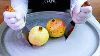 pomegranate ice cream rolls street food  ايسكريم رول رمان